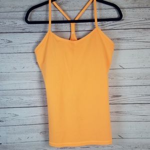 Lululemon Orange Racerback Tank Top 10
